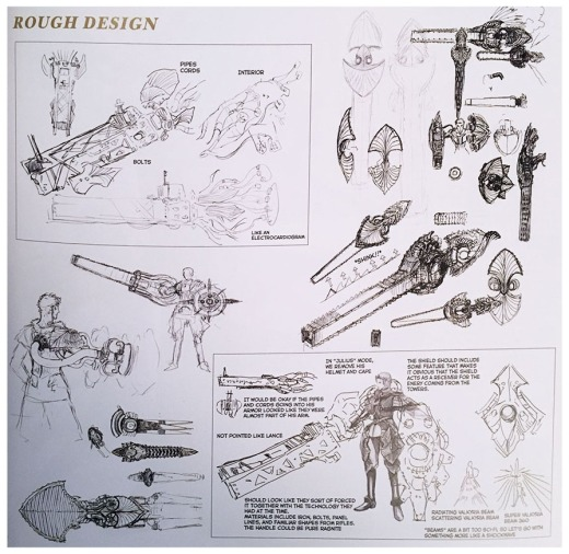 Artificial Valkyria lance rough design